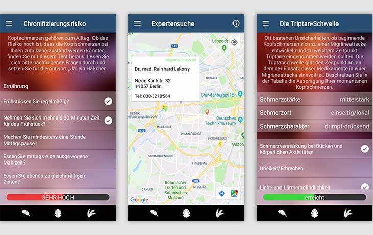 Migräne App Screenshots