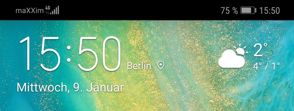 screenshot Statusleiste
