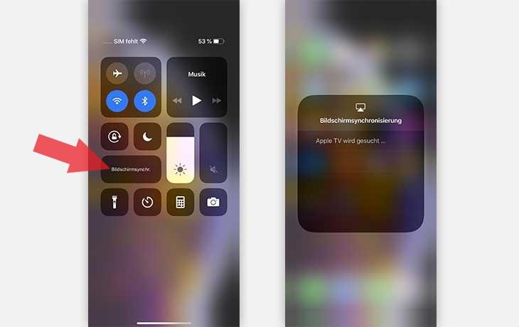AirPlay aktivieren auf dem iPhone X