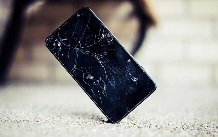Displaybruch beim Smartphone
