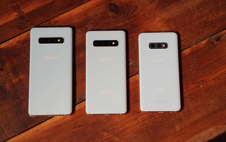 Galaxy S10 Smartphones Rückseite