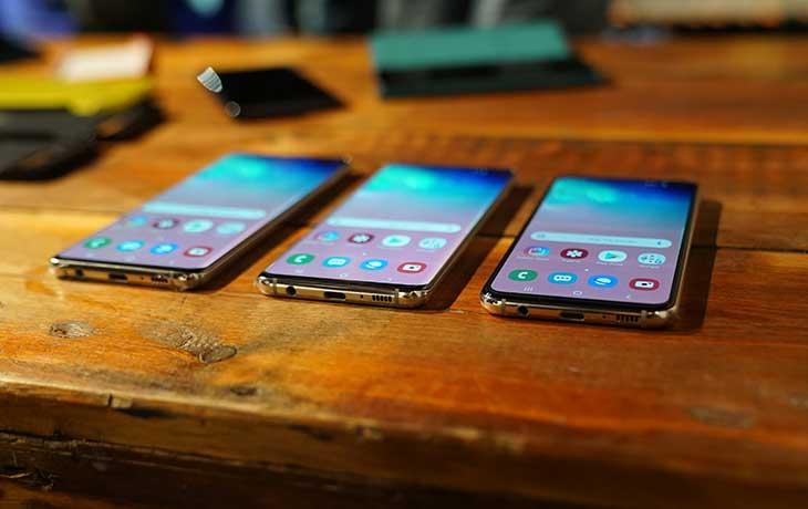 Galaxy S10 Smartphones Unterseite