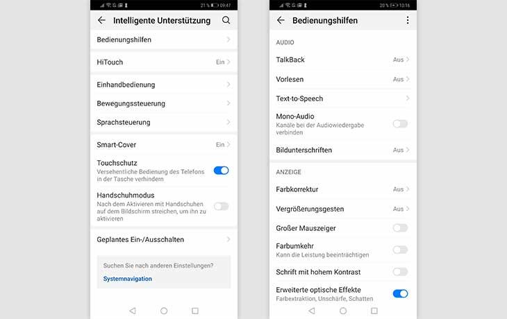 TalkBack und VoiceOver: aktivieren