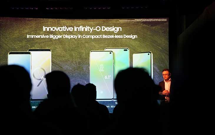 Präsentation der neuen S10-Smartphones
