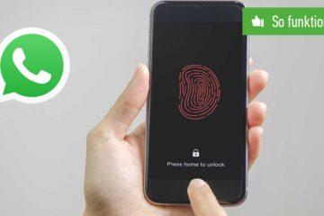 WhatsApp mit Face ID oder Touch ID sperren