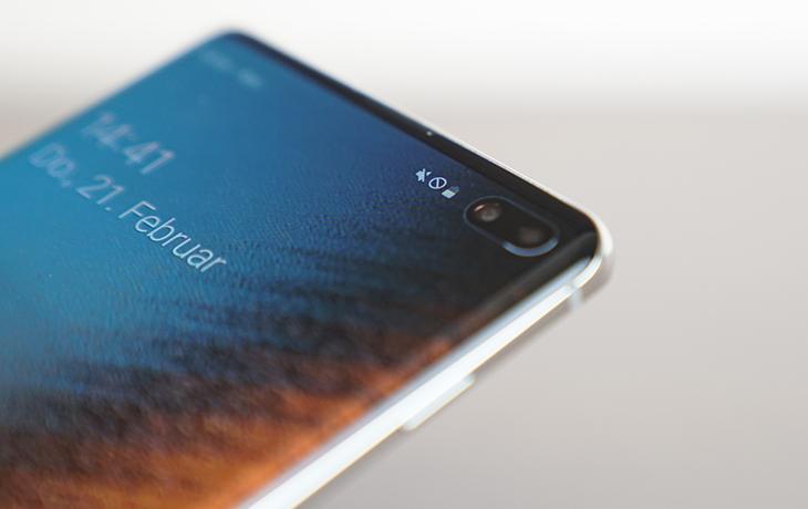 Samsung Galaxy S10 Plus vs. Galaxy S9 Plus: Fingerabdrucksensor