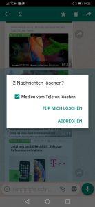 Whatsapp Löschen bestätigen