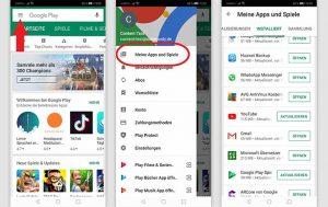 WhatsApp aktualisieren: Screenshots Android Betriebssystem, Play Store