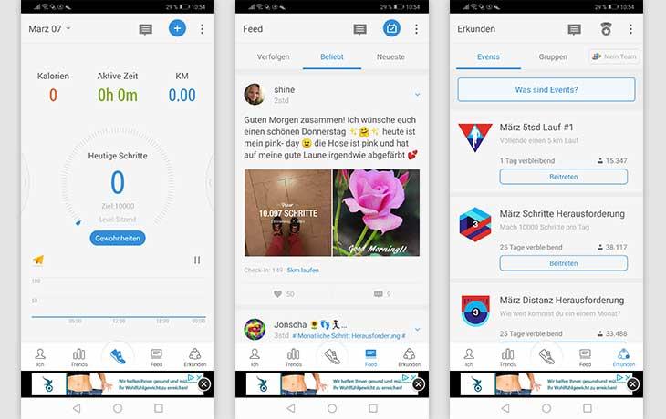 Schrittzähler-App: Screenshot StepsApp