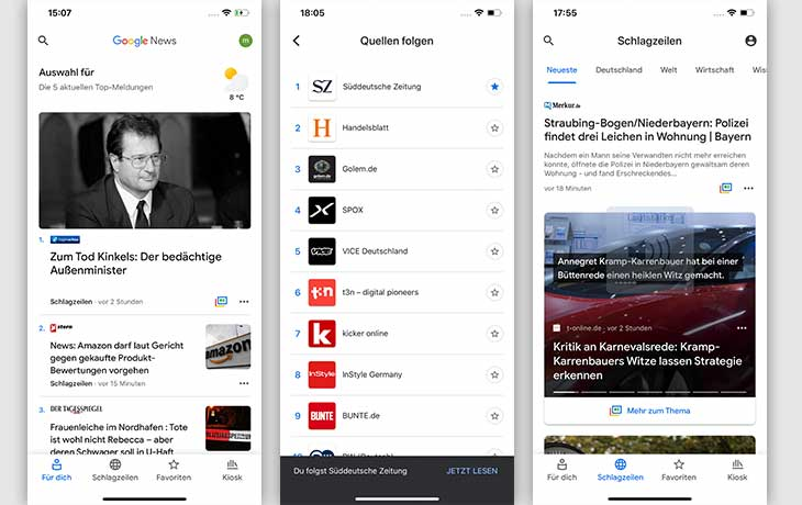 News App: Google News