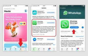WhatsApp aktualisieren: Screenshots iOS Betriebssystem, App Store