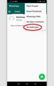 Whatsapp Fotos löschen: Einstellungen