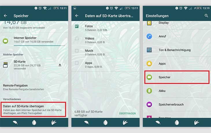 Mehrere Apps auf die SD-Karte verschieben