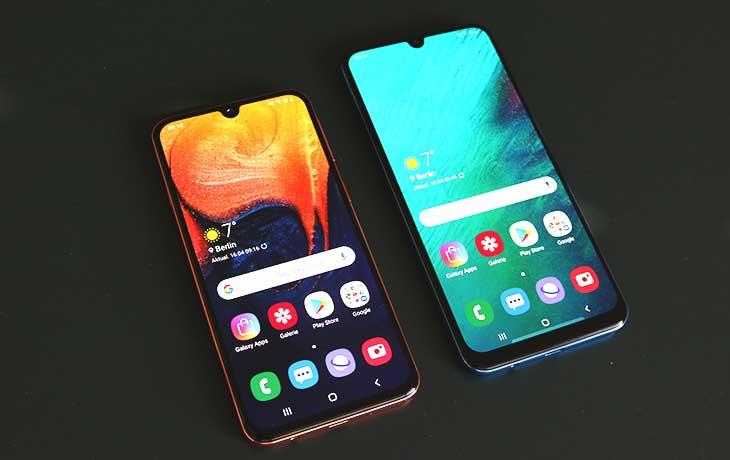 Galaxy A40 und A50 Front