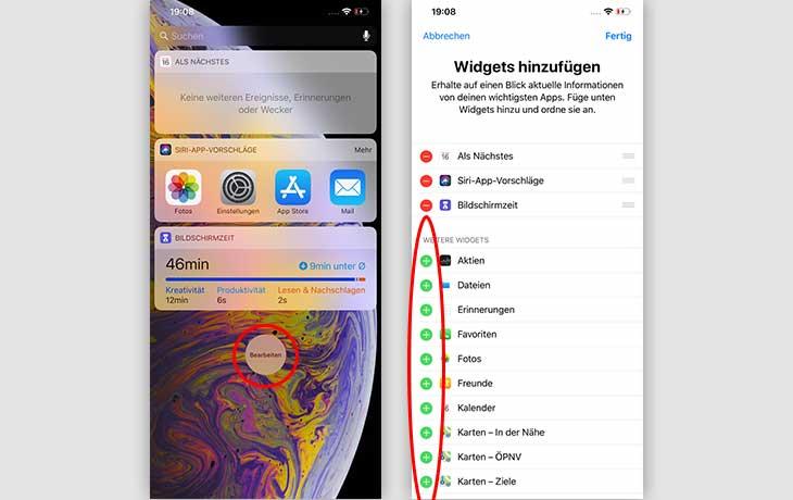 Akku sparen iOS: Widgets