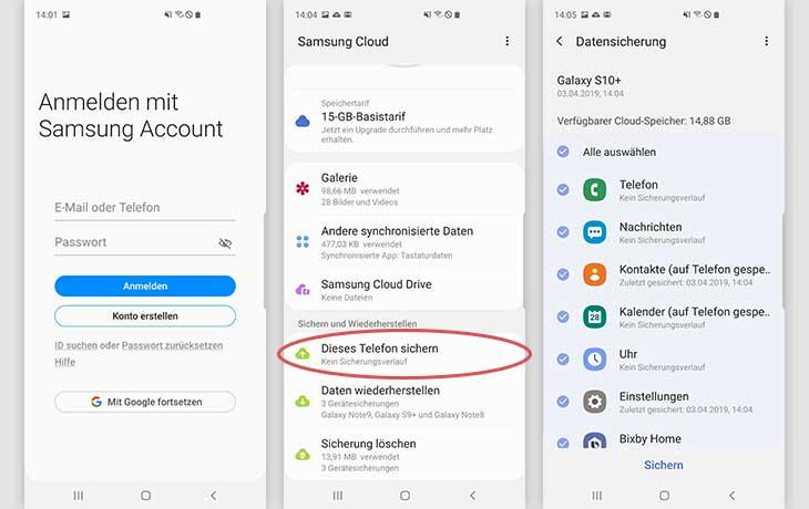 Android Backup Samsung