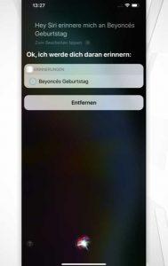 Siri-Befehle: Termine