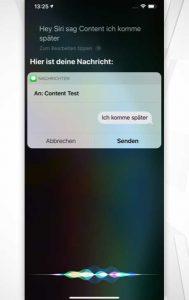 Siri-Befehle: Kommunikation