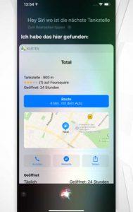Siri-Befehle: Navigieren