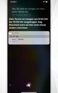 Siri-Befehle: Aufgaben und Termine