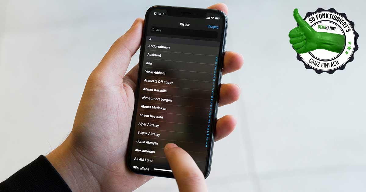 Kontakte übertragen bei iPhones