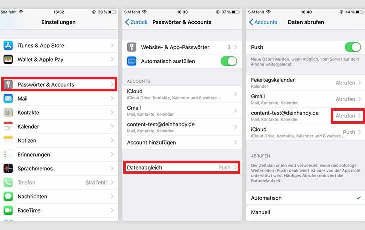 Kontakte von Android zu iOS übertragen