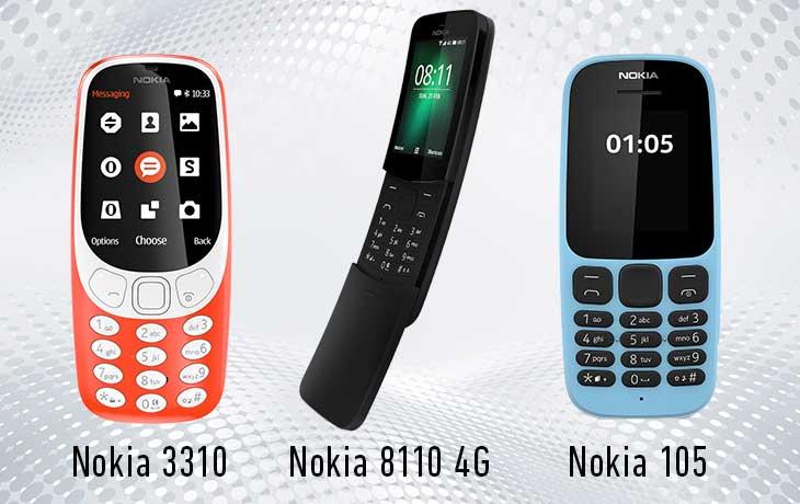 Nokia Handys mit T9-Tastatur