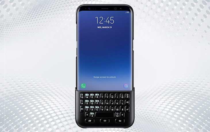 Samsung Handy mit Tastatur-Case