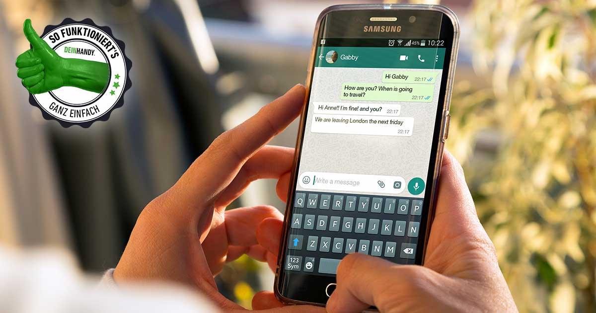 WhatsApp Standort senden