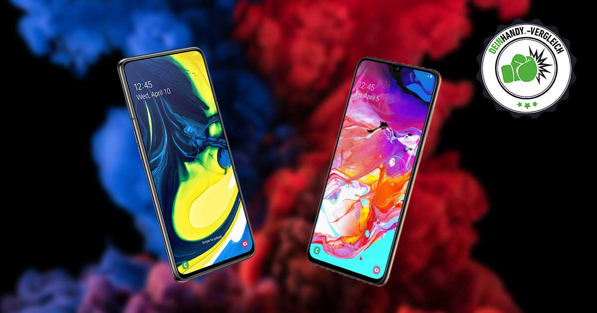 Galaxy A80 vs. A70: Handyvergleich