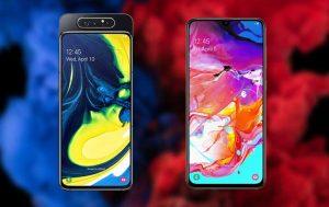 Galaxy A80 vs. A70: Produktbilder von vorne
