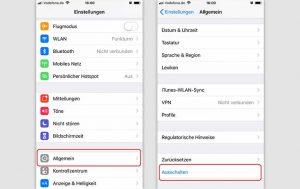 iPhone ausschalten: Screenshots