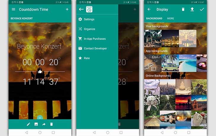 Countdown-Apps: Screenshot Countdown Time