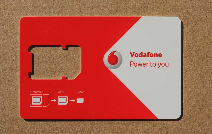 Vodafone-SIM-Karte
