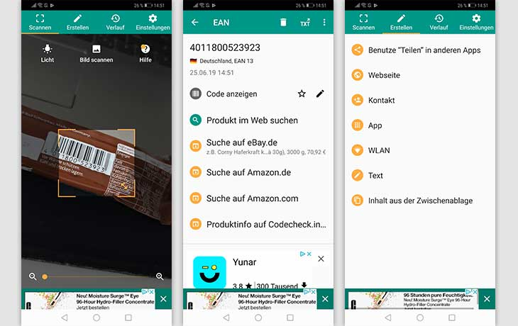 QR-Code-App: Screenshots QR Code & Barcode Scanner von TeaCapps