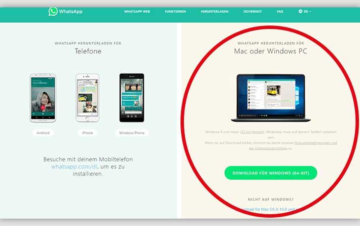 WhatsApp Web installation Screenshot