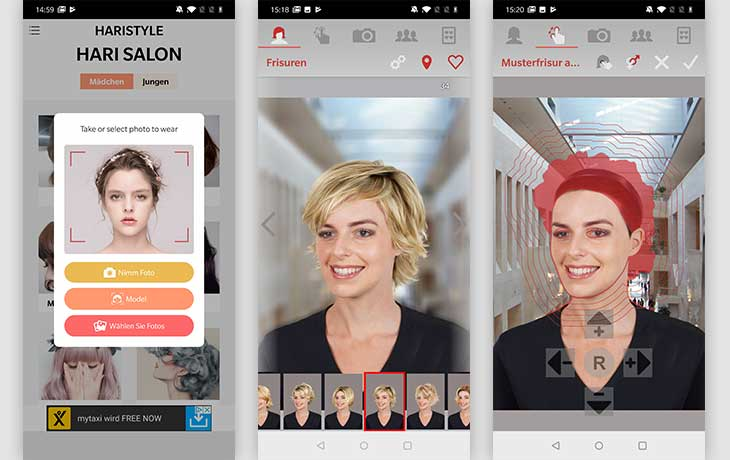 Frisuren App: Screenshot Hair Zapp
