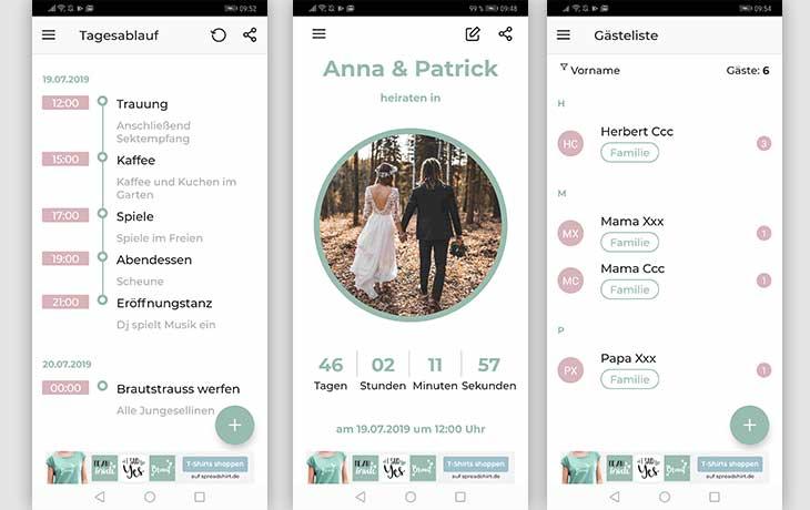 Hochzeitsplaner App The Big Day