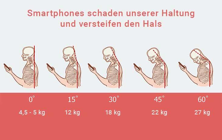 Smartphone-Nacken