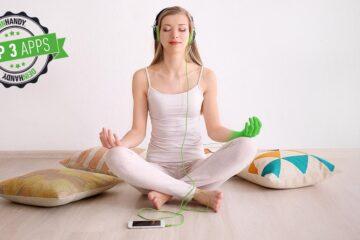 Meditations-App: Frau, die meditiert