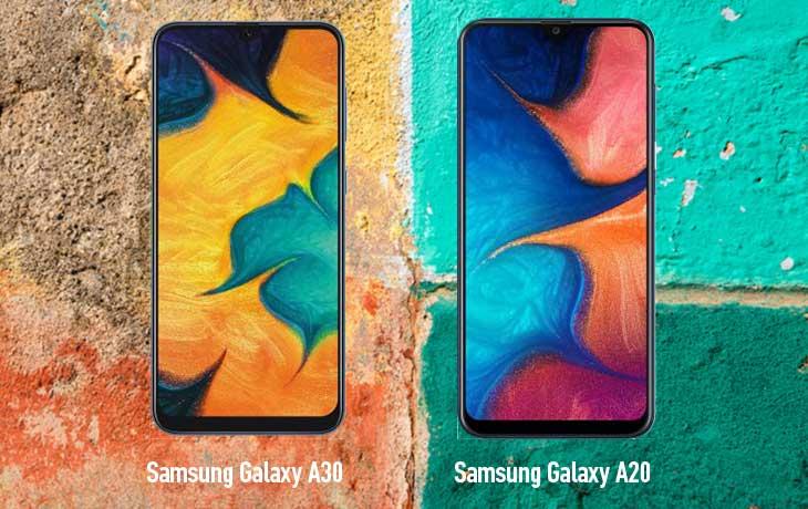 Galaxy A20 und Galaxy A30 Front