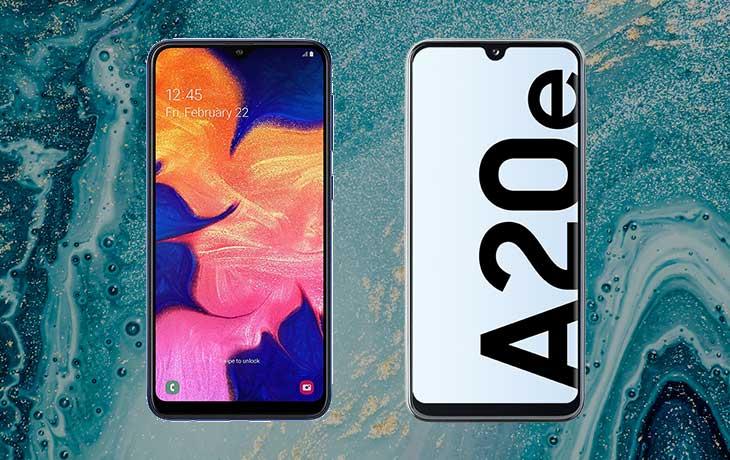 Galaxy A20e und Galaxy A10 Voderseite