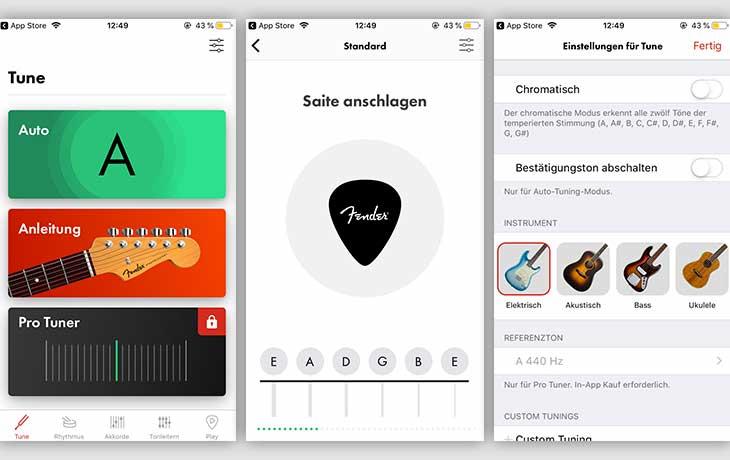 Gitarren-stimmen-App: Free Guitar Tuner