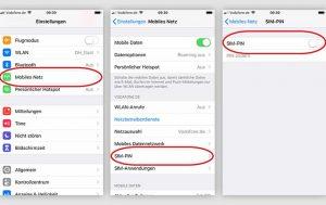 iPhone SIM Pin ausschalten: Screenshots