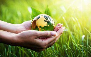 Earth Overshoot Day: Hand mit Weltkugel