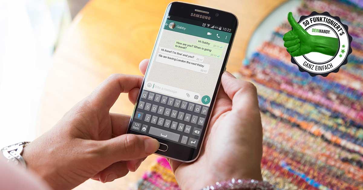WhatsApp-Gruppe löschen