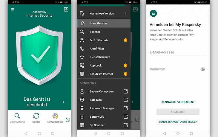 Kaspersky App Screenshots