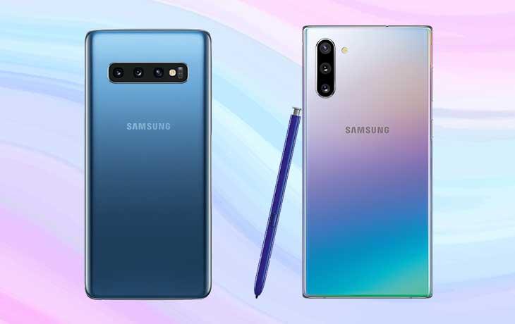 Galaxy Note 10 und Galaxy S10 Rückseite