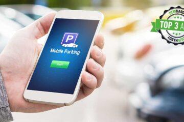 Handyparken: Handy in der Handy, Autos im Hintergrund