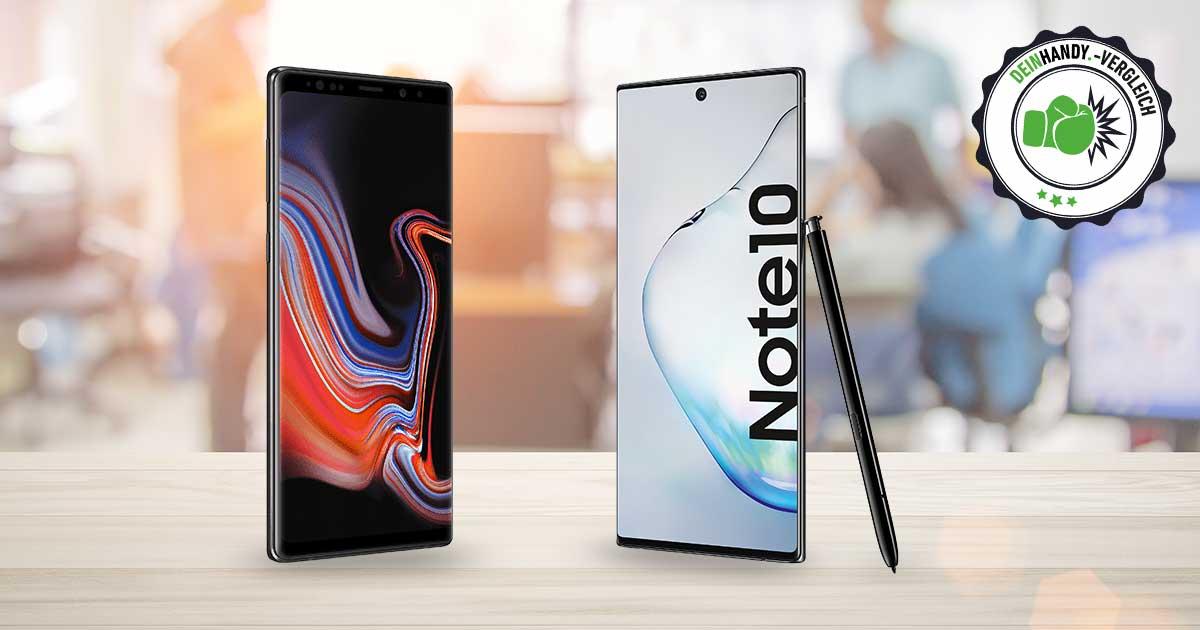 Galaxy Note 10 vs. Note 9: Die beiden Handy nebeneinander